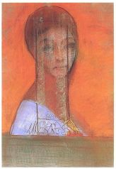 Frau mit Schleier (Woman with Veil) - Odilon Redon, 1895