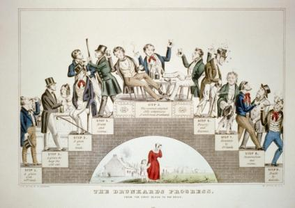 The Drunkard's Progress, Nathaniel Currier, 1846