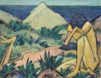 Nudes in Dunes - Otto Mueller, 1920