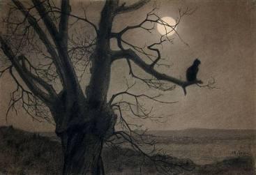 Chat au Clair de Lune - Theophile-Alexandre Steinlen, circa 1900