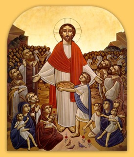Christ Feeding the Multitude - Artist & Date Unknown