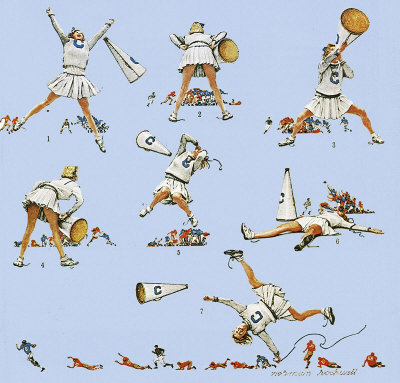 The Cheerleader - Norman Rockwell, 1961