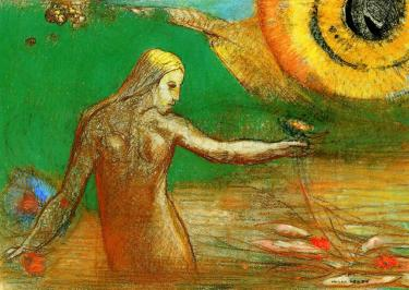 Flower of Blood - Odilon Redon, 1895