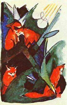 Four Foxes - Franz Marc, 1913