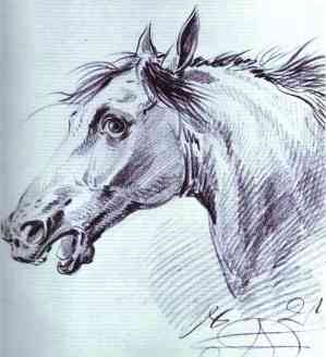 Head of a Horse - Alexander Orlowski, 1821