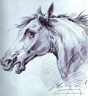 Head of a Horse - Alexander Orlowski, 1821