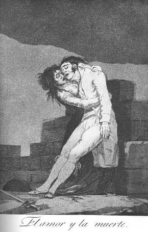 Love and Death - Francisco Goya, 1799