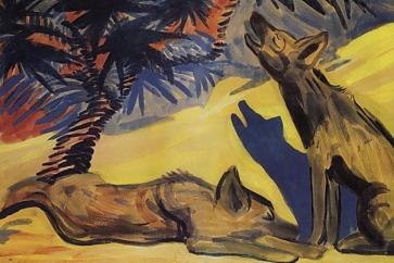 Hyenas - Martiros Saryan, 1909
