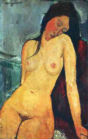 Seated female nude - Amedeo Modigliani, 1916