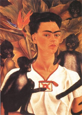 Self Portrait with Monkeys - Frida Kahlo, 1943