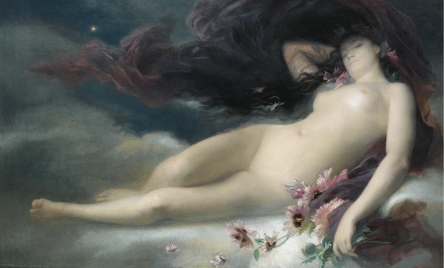 Night - Alexandre-Auguste Hirsch, 1875