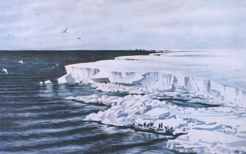 The great ice barrier -- looking east from Cape Crozier - Edward Adrian Wilson, 1911