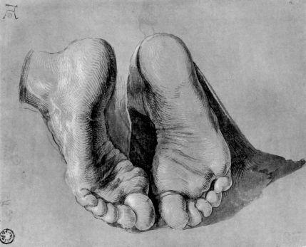 Feet of an Apostle - Albrecht Dürer, circa 1508