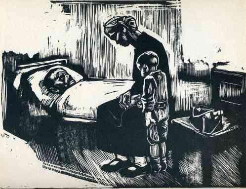 Hospital Visit - Kathe Kollwitz, circa 1928