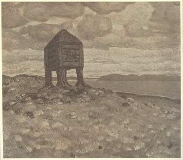 The Hut of Dead - Nicholas Roerich, 1909
