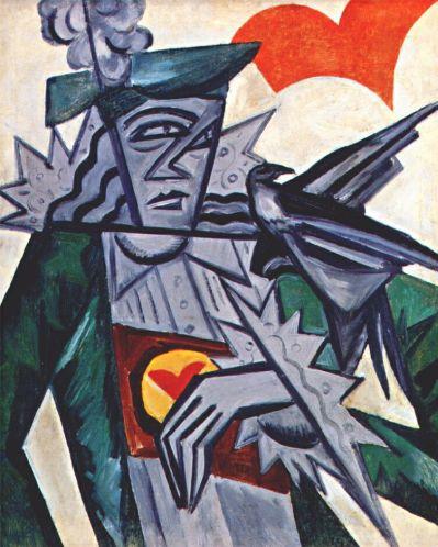 Jack of Hearts - Olga Rozanova, 1915