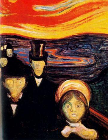 Anxiety - Edvard Munch, 1894