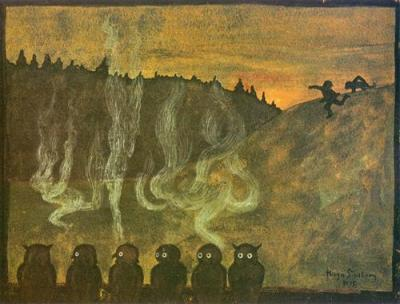 Waiting For Dawn - Hugo Simberg, 1895