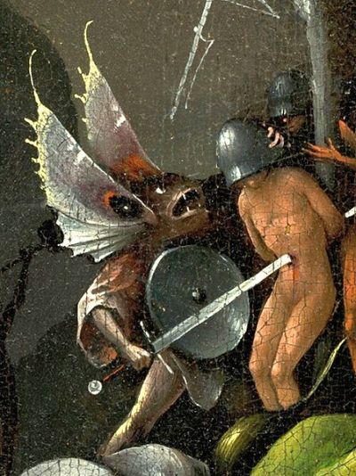detail from The Garden of Earthly Delights - Hieronymus Bosch, 1510 - 1515