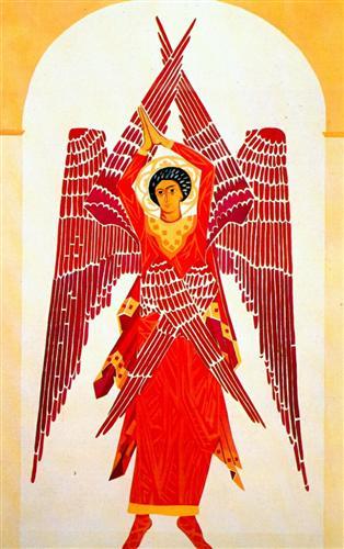 Liturgy Six-Winged Seraph - Natalia Goncharova, 1914