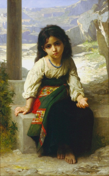 The Little Beggar - William-Adolphe Bouguereau, 1880