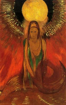 The Flame (Goddess of Fire) - Odilon Redon, 1896