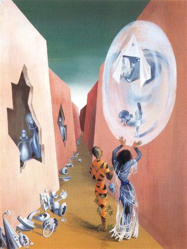 Gypsy and Harlequin - Remedios Varo, 1947