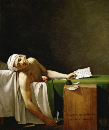 The Death of Marat - Jacques-Louis David, 1793