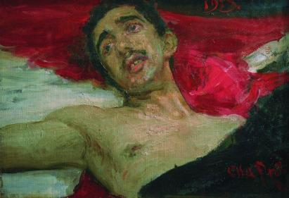 Wounded Man - Ilya Repin, 1913