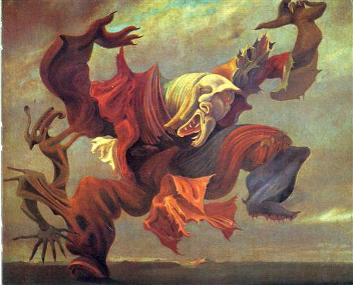 The Angel of the home or the Triumph of Surrealism - Max Ernst, 1937