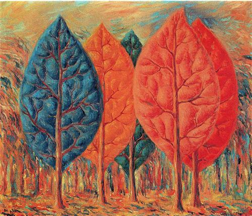 The Fire - Rene Magritte, 1943