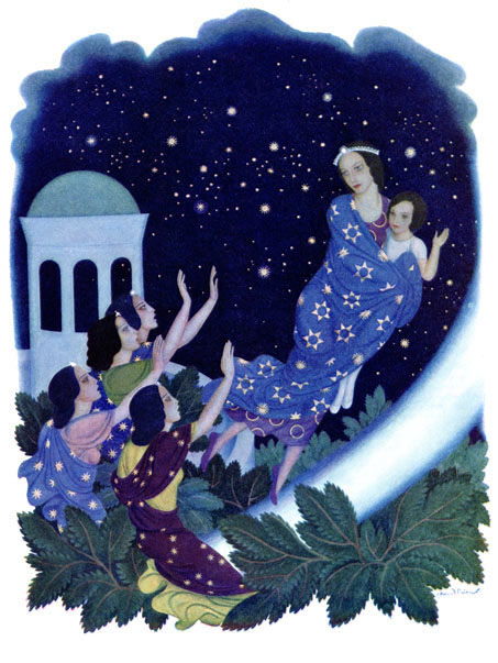 "Illustration from Mary Crary's ""Daughters of the Stars"" - Edmund Dulac, 1939"
