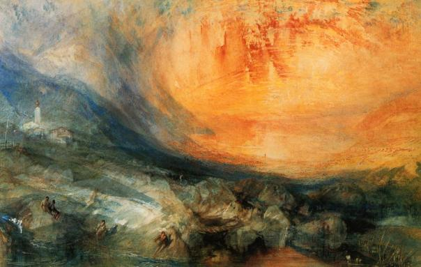 Goldau - William Turner, 1841