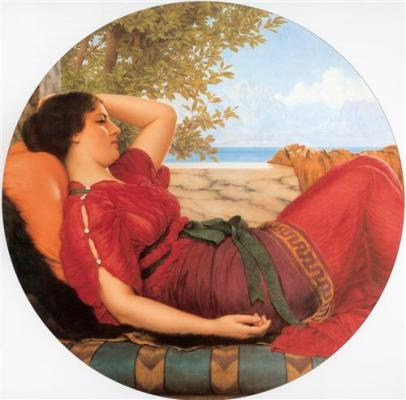 In Realms of Fancy - John William Godward, 1911