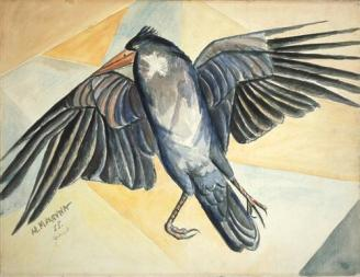 Study of a Dead Crow - Marevna (Marie Vorobiev), 1955
