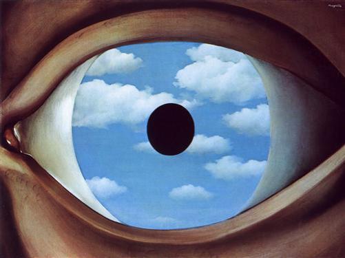 The False Mirror - Rene Magritte, 1928