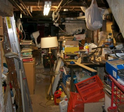 Clutter in Basement - Tomwsulcer, 2011