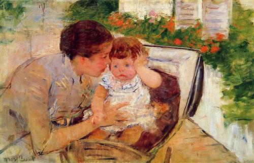 Susan Comforting the Baby (no. 2) - Mary Cassatt, circa 1881