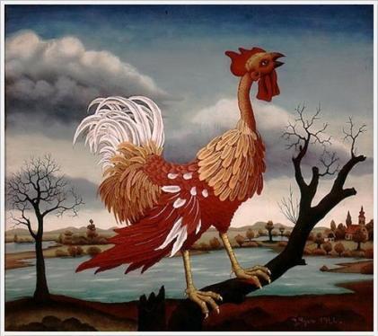 The Rooster - Ivan Generalić, 1966