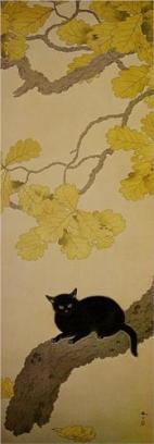 Black Cat (Kuroki Neko) - Hishida Shunso, 1910
