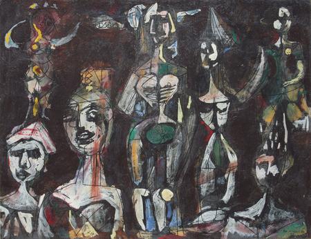 Carnival Figures - Rene Portocarrero, 1952