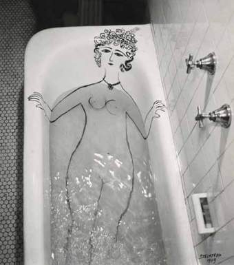 Girl in Bathtub - Saul Steinberg, 1949