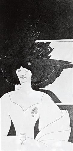 Waiting - Aubrey Beardsley, 1893