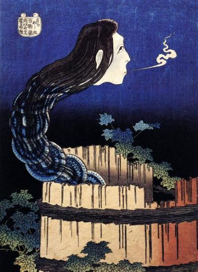 A Woman Ghost Appeared from a Well - Katsushika Hokusai, circa 1800