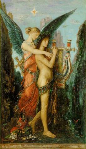 Hesiod and the Muse - Gustave Moreau, 1893