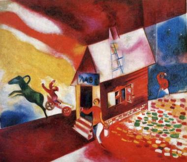 Burning House - Marc Chagall, 1913