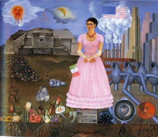 Self Portrait Along the Borderline Between Mexico and the United States - Frida Kahlo, 1932