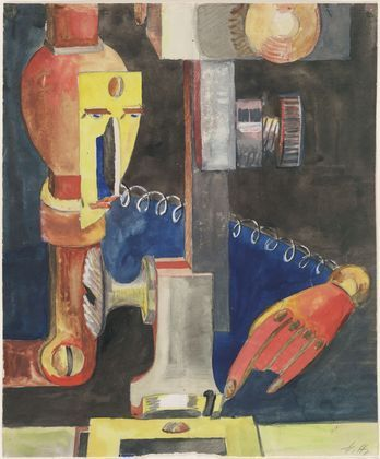 Study for Man and Machine - Hannah Hoch, 1921