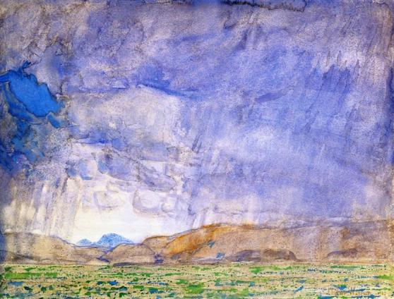 Thunderstorm on the Oregon Trail - Childe Hassam, 1908