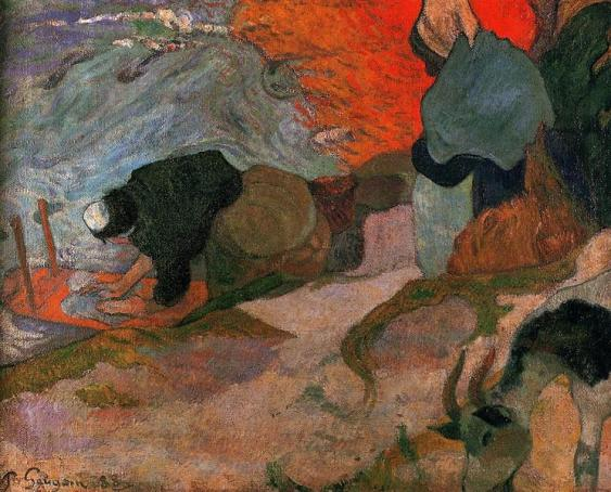 Washerwomen - Paul Gauguin, 1888